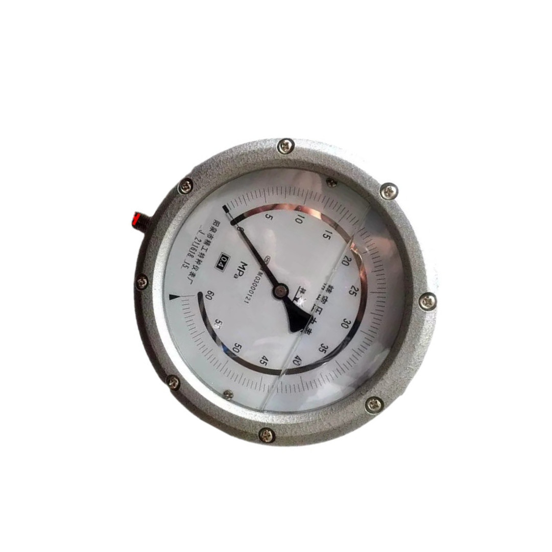 桥梁千斤顶用充油精密耐震压力表/YTNB-150 0.4级 60MPa