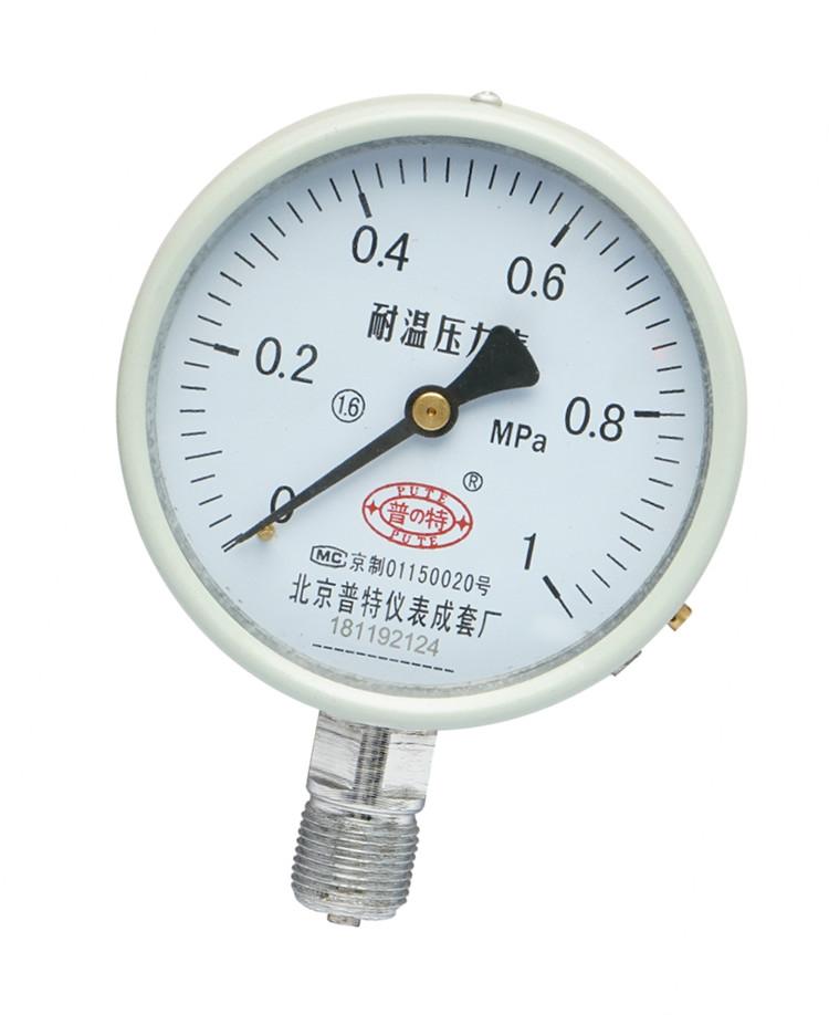 普特 YGW-100耐高温压力表 蒸汽锅炉高精度压力表0-1.6-2.5-60mpa
