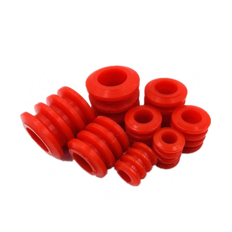 高强度耐磨损连体套聚氨酯四连体弹性缓冲胶套联轴器柱销减震套筒